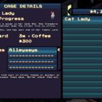 pixel noirs menu system