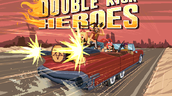 double kick heroes review title screen
