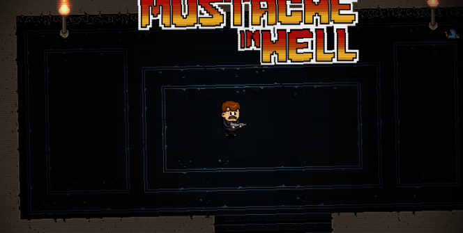 mustache in hell title screen